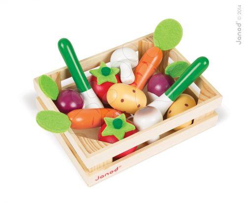JANOD Dřevěná zelenina v bedničce