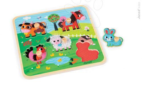 JANOD HAPPINES FARM dřevěné puzzle pro nejmenšíé cena od 229 Kč