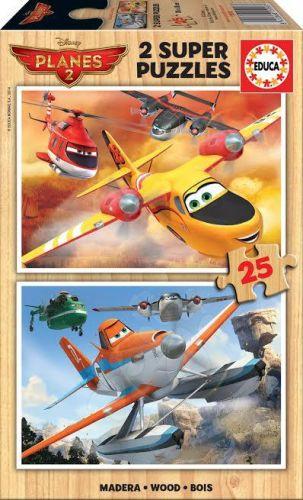 EDUCA Disney Planes puzzle ze dřeva 2x25 dílků cena od 208 Kč