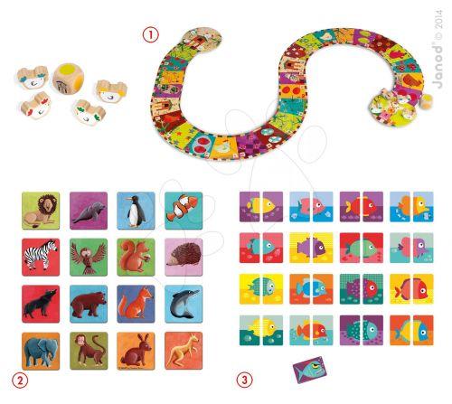 JANOD Domino+Hot piranha game+chicken run game set