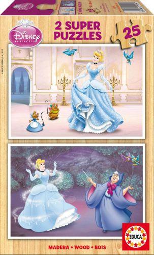 EDUCA Walt Disney Popelka 2x25 dílků cena od 199 Kč