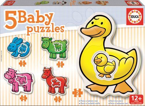 EDUCA baby puzzle Zvířátka s kachničkou 14 dílků