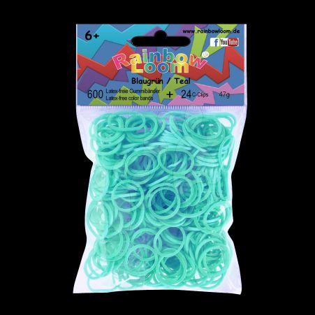RAINBOW LOOM Original gumičky modrozelené