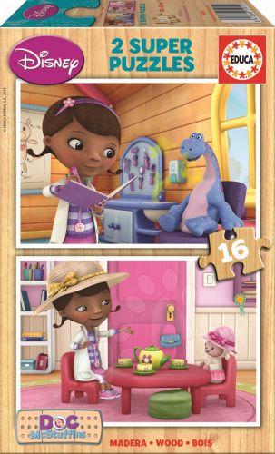 EDUCA Doktorka McStuffins Disney 2x16 dílků cena od 199 Kč