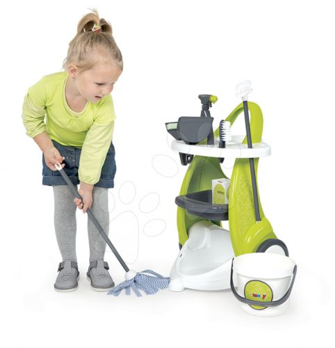 SMOBY Dětský úklidový vozík Clean Service a doplňky cena od 0 Kč