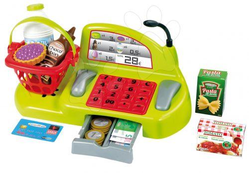 ÉCOIFFIER Dětská mechanická pokladna s košíkem 100% Chef a doplňky cena od 339 Kč