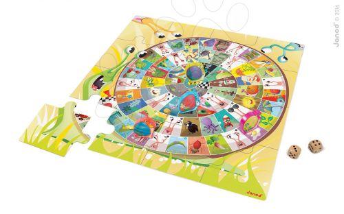 JANOD Snails Race Giant Game & puzzle v angličtine