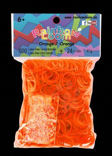 RAINBOW LOOM Original gumičky oranžové