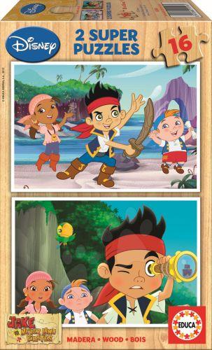 EDUCA Jake and The Neverland Pirates Disney 2x16 dílků cena od 199 Kč