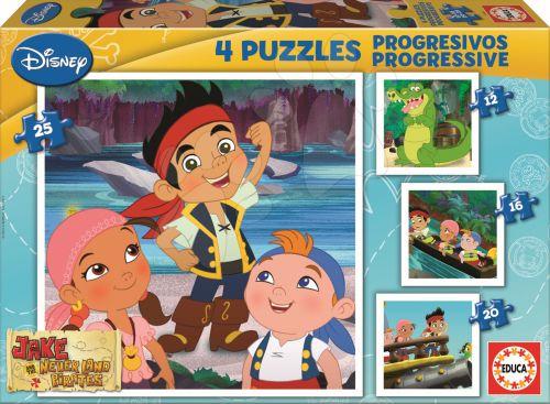 EDUCA Jake and the Never Land Pirates 25, 20, 16, 12 dílků cena od 150 Kč