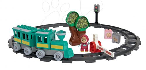 BIG PlayBIG BLOXX Masha a medvěd se železnicí
