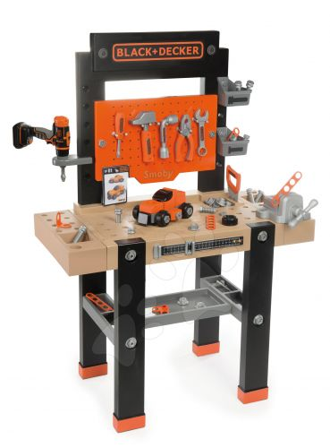 SMOBY Pracovní dílna s mechanickou vrtačkou BLACK+DECKER cena od 1364 Kč