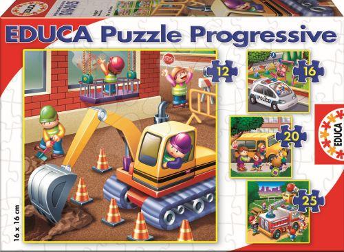 EDUCA Progressive Auta 25, 20, 16, 12 dílků cena od 189 Kč
