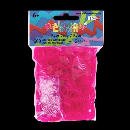 RAINBOW LOOM Original gumičky transparentní růžové