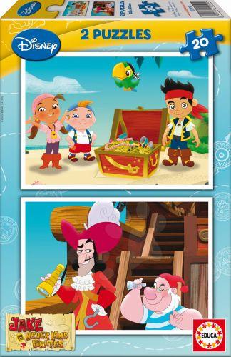 EDUCA Jake and The Never Land Pirates 2x20 dílků cena od 165 Kč