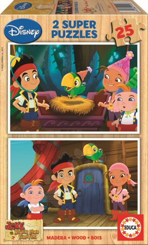 EDUCA Walt Disney Jake and The Never Land Pirates 2x25 dílků cena od 208 Kč
