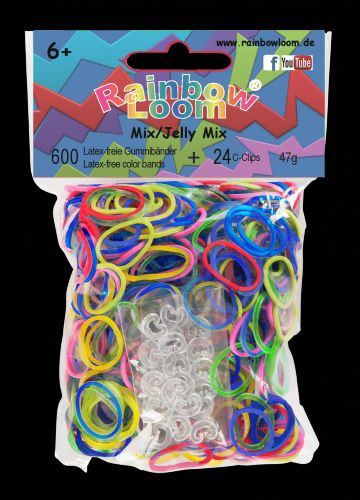 RAINBOW LOOM Original gumičky transparetní mix