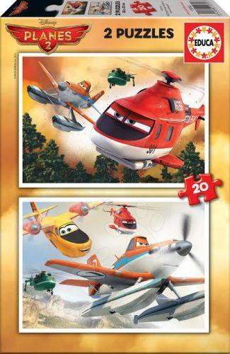 EDUCA Planes Walt Disney 2x20 dílků cena od 165 Kč
