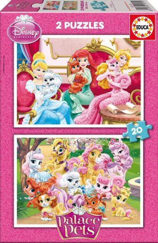 EDUCA Walt Disney Palace Pets 2x20 dílků