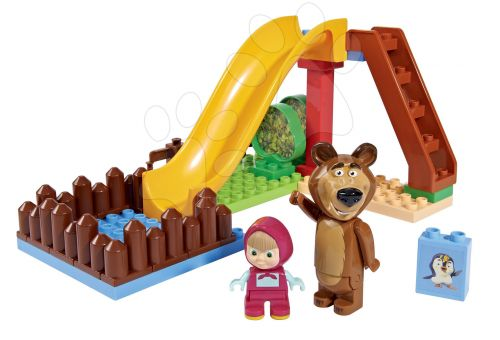 BIG PlayBIG BLOXX Masha a medvěd se skluzavkou