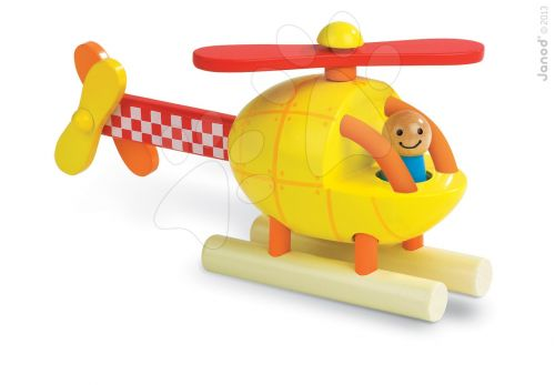 JANOD Helikoptéra dřevěná magnetická skládačka cena od 499 Kč