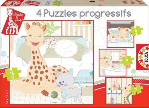 EDUCA Sophie la girafe 16, 12, 9, 6 dílků cena od 175 Kč
