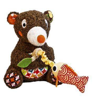 EBULOBO Lesní medvědi Hudební medvídek s rybkou