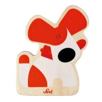 SEVI Dřevěné figurky pes cena od 59 Kč