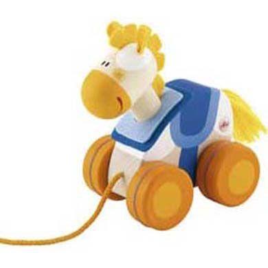 SEVI Dřevěné tahací zvíře kůň