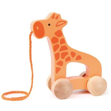 HAPE Tahací hračka žirafa cena od 229 Kč