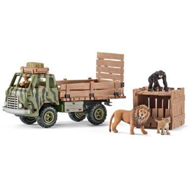 SCHLEICH Safari zvířátka a auto sada cena od 0 Kč