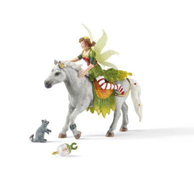 SCHLEICH Víla Marween ve slavnostním oděvu na koni 70517 cena od 314 Kč