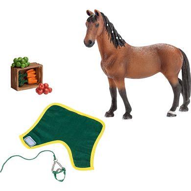 SCHLEICH Farm Life sada 5 sada krmení a Trakénský kůň cena od 265 Kč