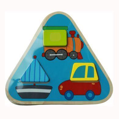 BIECO Trojúhelníkové puzzle vozidla cena od 123 Kč