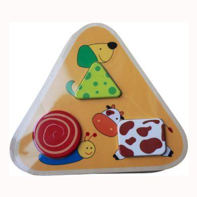 BIECO Trojúhelníkové puzzle zvířátka cena od 0 Kč