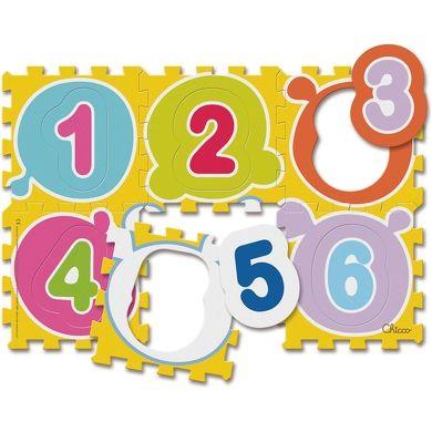 CHICCO Puzzle koberec čísla 6 dílů cena od 285 Kč