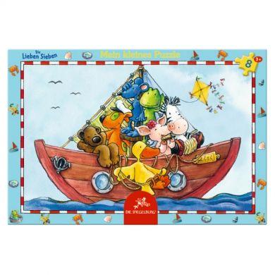 Coppenrath Verlag Malé puzzle v rámečku veselá loďka