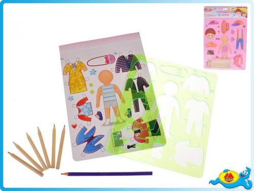 Mikro Trading Vykreslovací šablony oblečků holka/kluk cena od 43 Kč