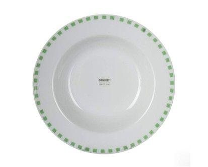 BANQUET CUBITO GREEN talíř hluboký 21,6 cm cena od 43 Kč