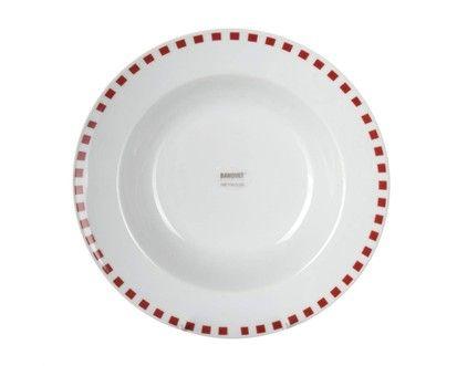BANQUET CUBITO RED talíř hluboký 21,6 cm  cena od 45 Kč