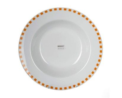BANQUET CUBITO ORANGE hluboký talíř cena od 40 Kč