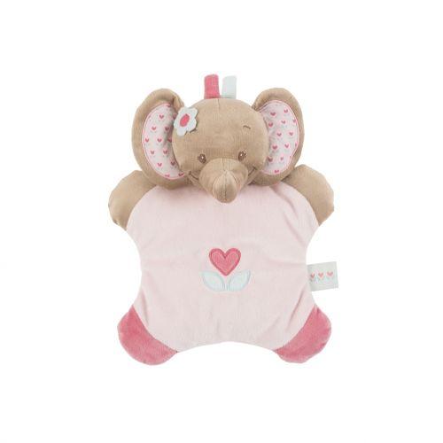 NATTOU Chrastítko polštářek sloník Rose cena od 309 Kč