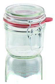 LEIFHEIT Zavařovací sklenice s klipem a těsnící gumou 255 ml