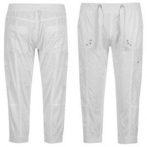 Voodoo Dolls Ribbed Waist Crop Pants Ladies kalhoty