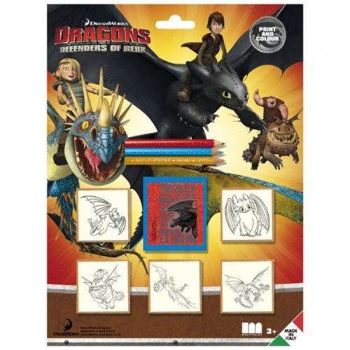 HM Studio: Razítka Dragons, blistr 5 ks - HM Studio cena od 111 Kč