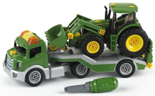Klein John Deere Transporter se zvuky s traktorem