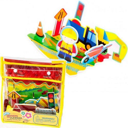 MEADOWKIDS sada hraček do vany STAVEBNÍ STROJE cena od 263 Kč