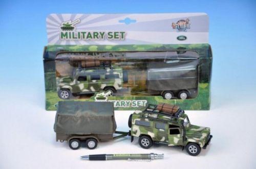 Mikro Trading Auto Vojenské Land Rover Defender kov 14,5 cm