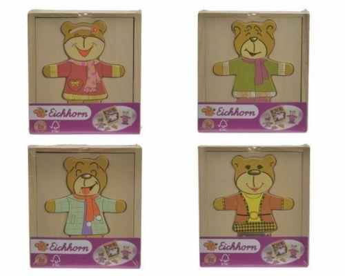 Simba Dřevěná skládačka medvídek cena od 108 Kč