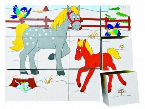 Woody Kubus 3x4 Zvířátka v ročních obdobích cena od 147 Kč